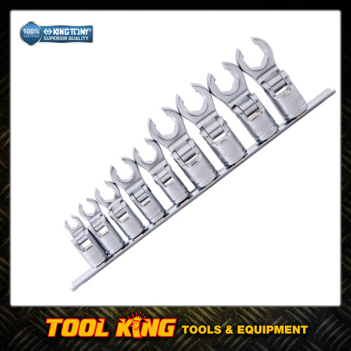 Crows feet socket spanner set metric FLEXIBLE KING TONY Professional Grade