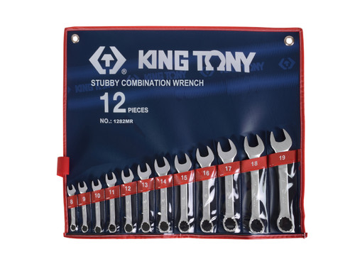 Spanner set Stubby 12pc  KING TONY Professional