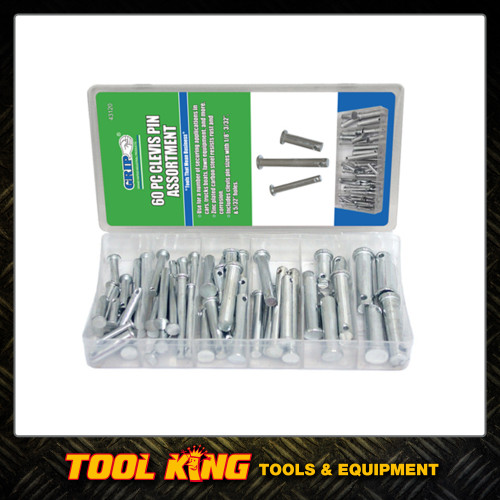 60pc Clevis pin assortment pack