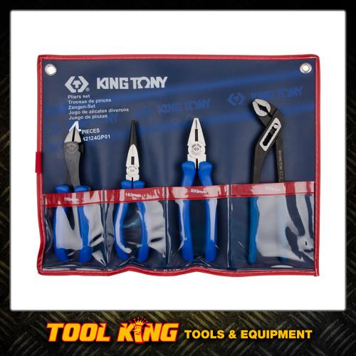 4pc plier set KING TONY Professional