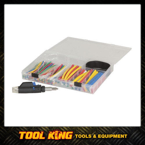 161 piece Heatshrink assortment kit Plus blow torch
