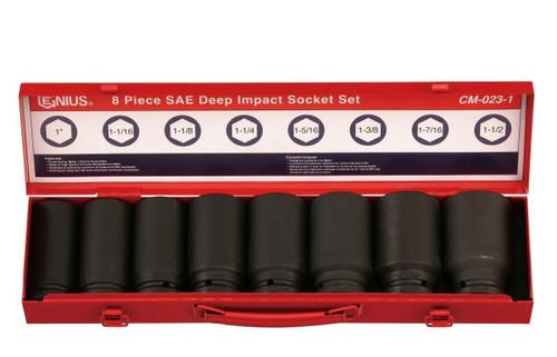 "3/4""DRIVE Impact Socket set 8pc Genius SAE"