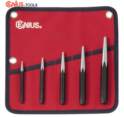Centre punch set Genius 5PC Professional Quality