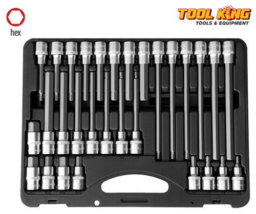 30pc Inhex Hex socket bit set