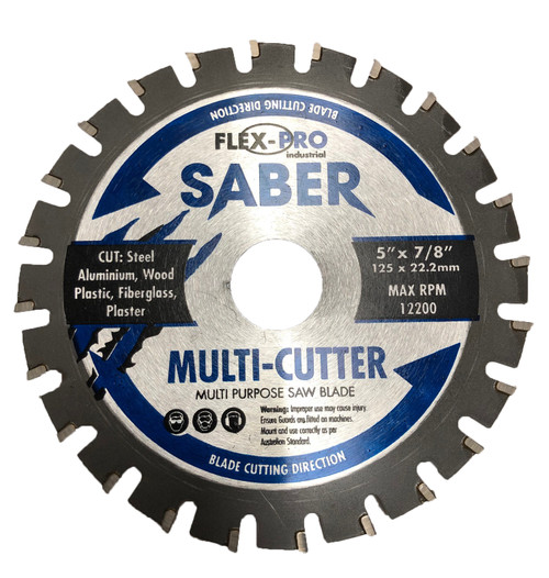 Multi cutter saw Blade 125mm 5 inch FLEXPRO Cut steel  wood aluminium