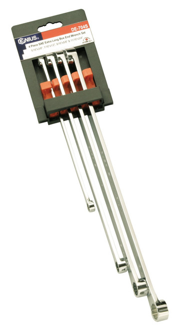 4pc Extra long ring Spanner set Genius tools SAE