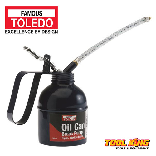 Oil Can with brass pump TOLEDO professional