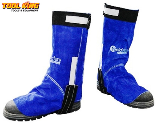Welders Spats  full leather  with hook and loop fastening Weldclass