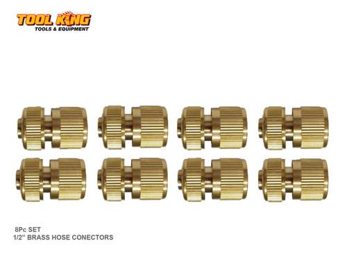 "8pc x 1/2"" Brass Garden Hose connectors"
