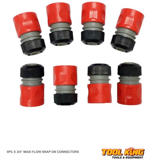 """8pc x 3/4"""" Garden Hose connectors 19mm plastic Maxi flow"""