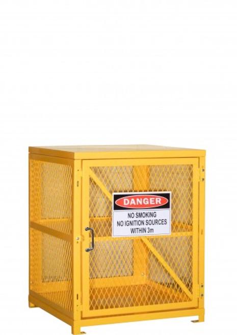 Aerosol gas storage cage