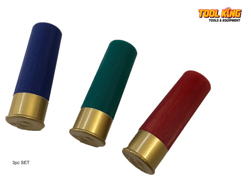 3pc Set POCKET KNIFE  12 Gauge shotgun shell  bullet replica