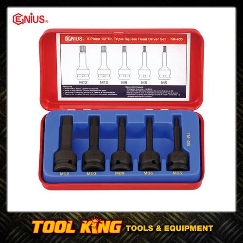 5pc Triple hex Spline Socket set  Genius Professional