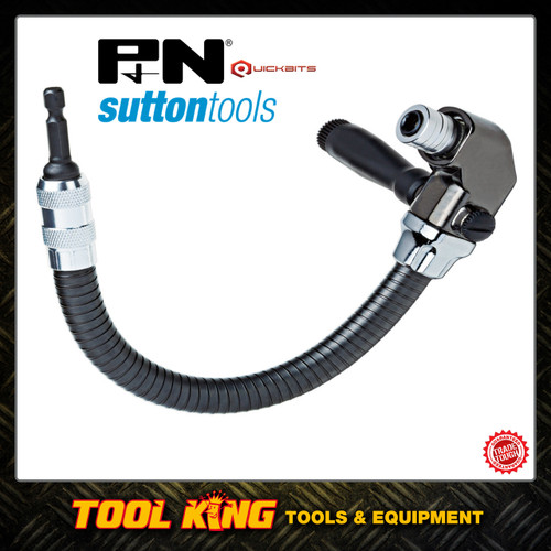 P&N Flexible Right angle Drill driver bit attachment by Sutton tools