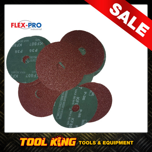 "Fibre Disc x 25pc Pack Professional Grade 5"" 125mm 36g  FLEXPRO Sanding Grinding"
