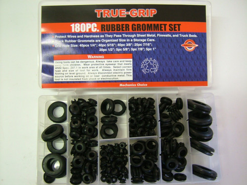 125pc Rubber grommet assortment pack
