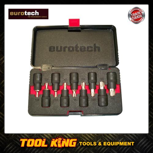 9pc Torx star bit socket set Eurotech