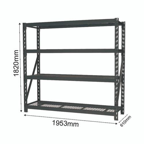 Shelving  Heavy duty with mesh shelves