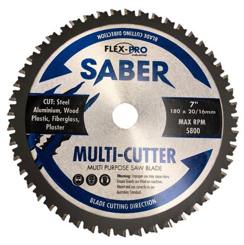 Multi cutter Circular saw Blade 180mm 7inch FLEXPRO Cut steel  wood aluminium