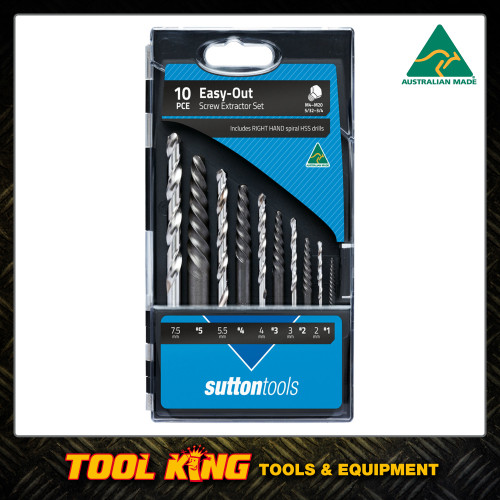 Sutton10pc Easy out screw extractor set Australian Made