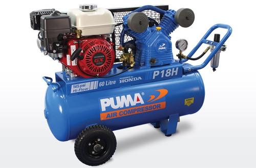 Air compressor Puma P18H with Honda petrol motor