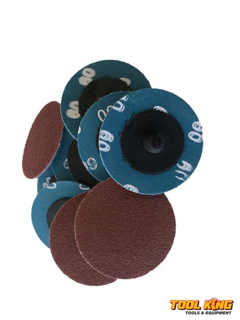 """Box of 100pcs x 2"""" 50mm ROLOC quick change surface sanding discs 36grit"""