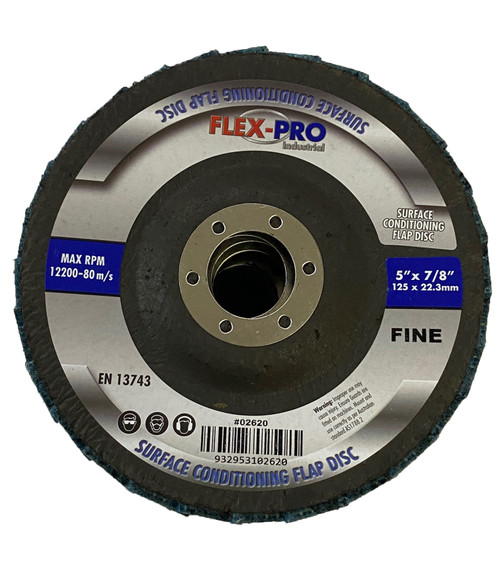 "Surface conditioning Scotchbrite Flap disc 5"" 125mm Fine FLEXPRO"