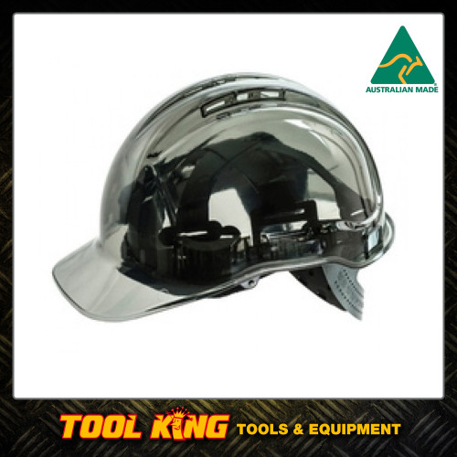 Hard Hat Clearview  vented SMOKE COLOUR  Australian Made