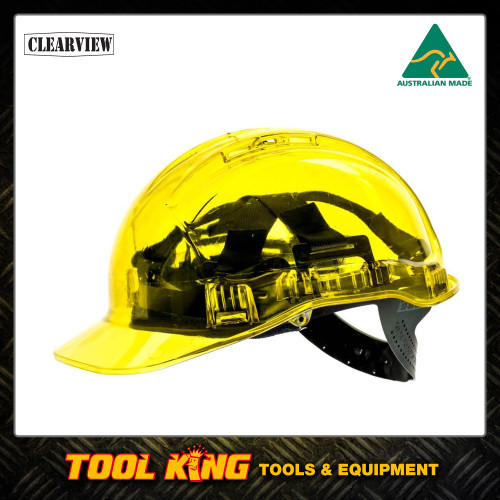 Hard Hat Clearview  vented YELLOW COLOUR  Australian Made