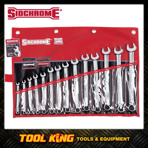 Sidchrome 14pc Combination Spanner set Metric