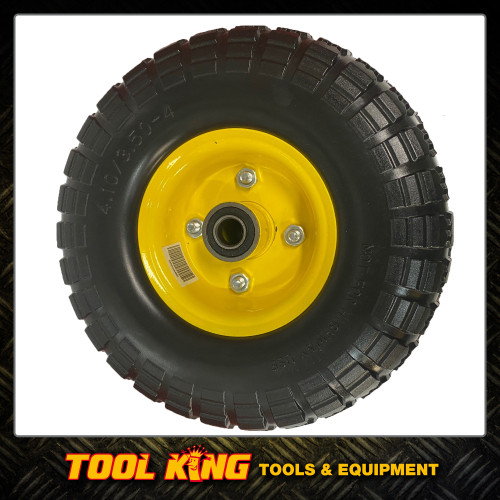 "Trolley wheel Double Hub Puncture proof  10"" x 4.1-3.5"