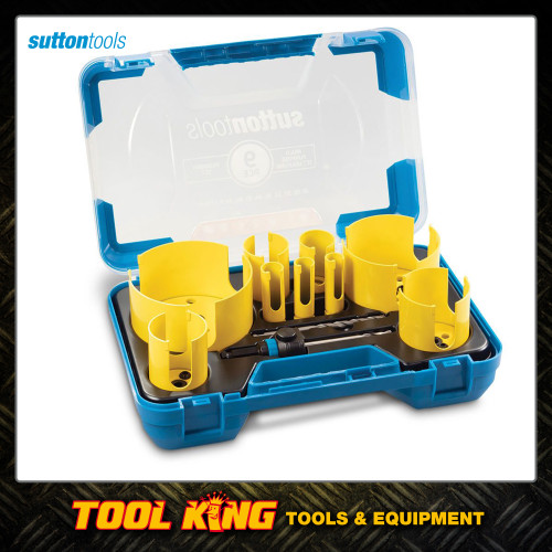 Sutton tools Plumbers Holesaw set 9pc TCT tipped