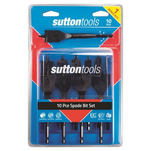 Sutton tools 10pc Spade bit set