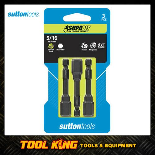 "Sutton tools 3pc x 5/16"" magnetic nut setter set IMPACT"