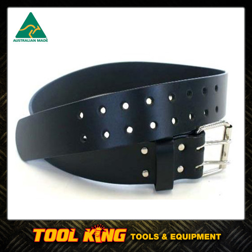 Leather Work Belt 50mm Double Buckle made in Australia