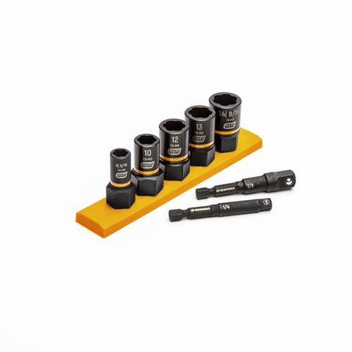 GEARWRENCH 7pc Bolt Biter damaged nut remover socket set