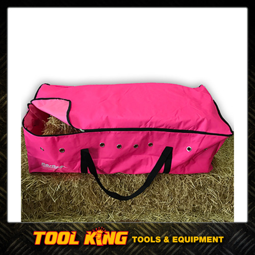 Hay Bale bag for stock feed Pink