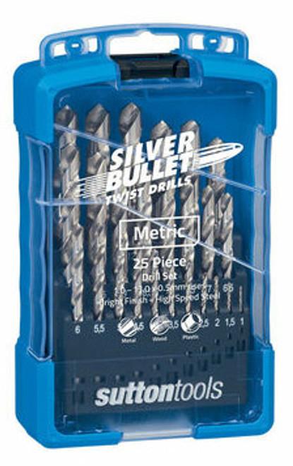 Sutton Tools Silver Bullet 19pc Metric Jobber Drill Bit Set 1-10mm