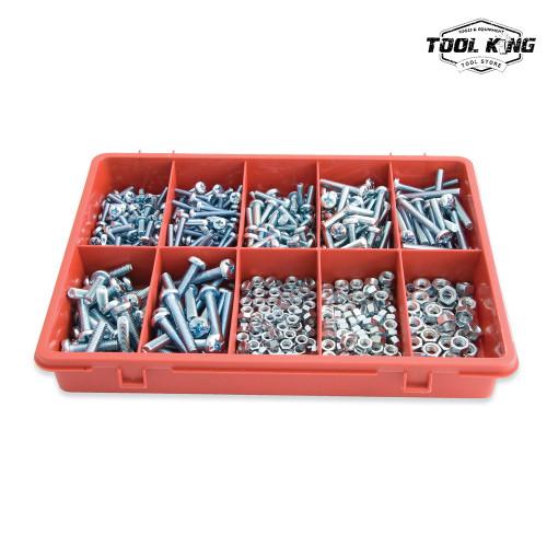 575pc Machine Screws & Hexagon Nuts Trade Pack Assortment