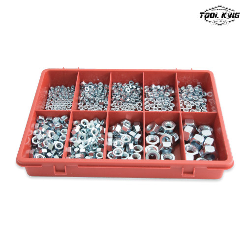 650pc Metric Hex Nut Trade Pack Assortment