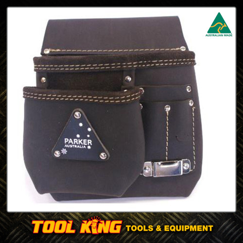 Leather Nail bag 2pocket  Australian Made NB2P(TC)