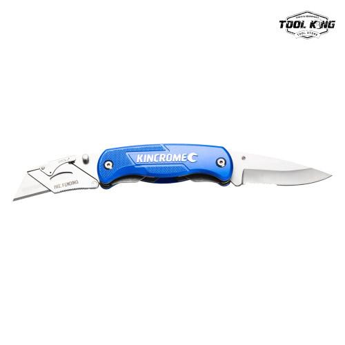 KINCROME Folding Utility Knife Twin Blade