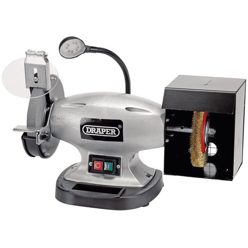 Draper Tools 150mm Bench Grinder with Wire Wheel