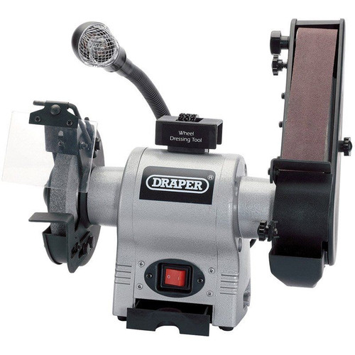 Draper Tools 150mm Bench Grinder with linisher