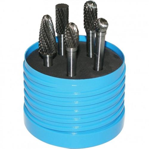 """Toolmaster 5pc x 1/4"""" shank Tungsten Carbide Burr set"""