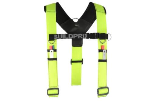 BACKPRO Adjustable Builders padded shoulder brace Yellow