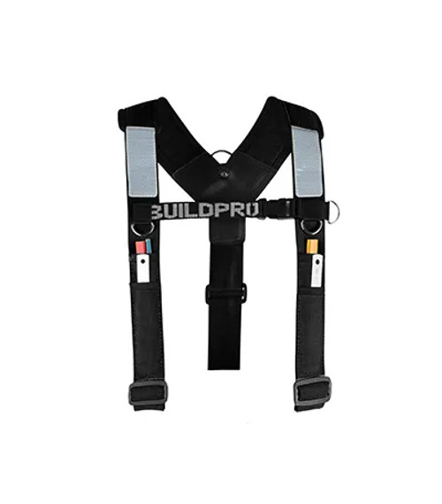 BACKPRO Adjustable Builders padded shoulder brace Black
