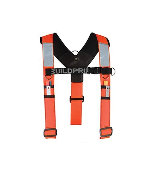 BACKPRO Adjustable Builders padded shoulder brace Orange