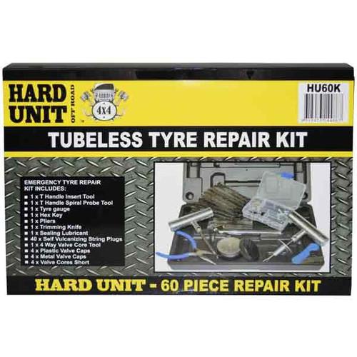 Hard Unit 60pc Tubeless tyre repair kit
