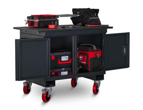 Armorgard Mobile Tuffbench™ Heavy duty locking workbench Cabinet #BH1270M